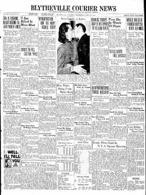 The Courier News from Blytheville, Arkansas on April 27, 1938 · Page 1