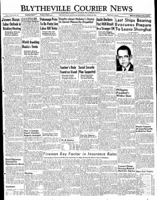 The Courier News from Blytheville, Arkansas on April 28, 1949 · Page 1