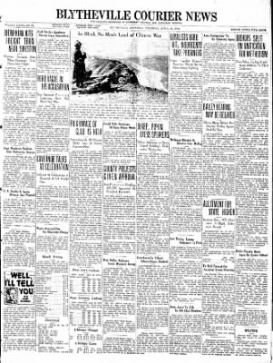 The Courier News from Blytheville, Arkansas on April 28, 1938 · Page 1