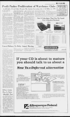 Albuquerque Journal from Albuquerque, New Mexico on March 31, 1985 · Page 102
