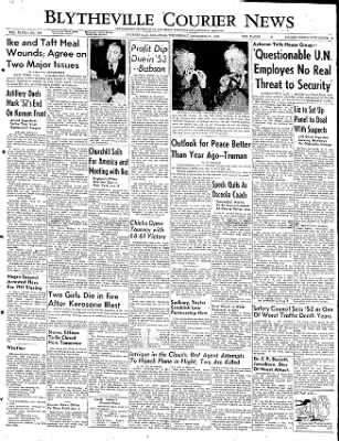 The Courier News from Blytheville, Arkansas on December 31, 1952 · Page 1