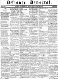 Sample Defiance Democrat front page