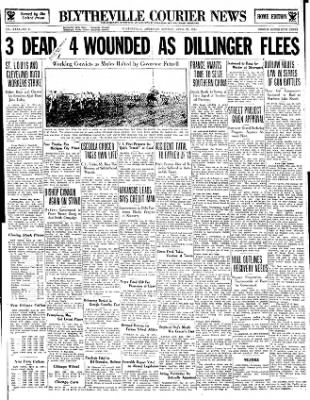 The Courier News from Blytheville, Arkansas on April 23, 1934 · Page 1
