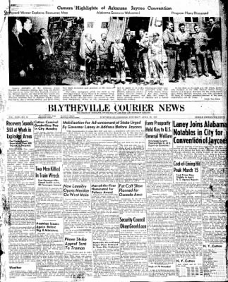 The Courier News from Blytheville, Arkansas on April 19, 1947 · Page 1