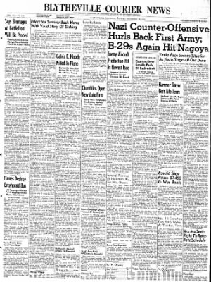 The Courier News from Blytheville, Arkansas on December 18, 1944 · Page 1