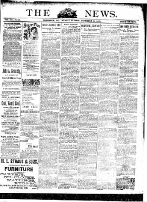The News from Frederick, Maryland on November 11, 1889 · Page 1