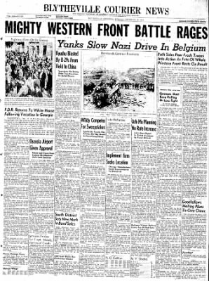 The Courier News from Blytheville, Arkansas on December 19, 1944 · Page 1
