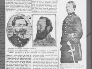 Photos of John Sedgwick, Stonewall Jackson, and Joseph Hooker--generals at Chancellorsville