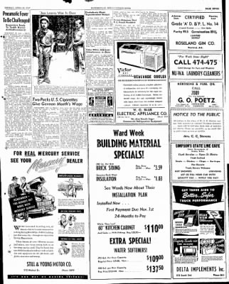 The Courier News from Blytheville, Arkansas on April 21, 1947 · Page 7