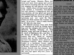 Newspaper description of Madam C.J. Walker's death and funeral, 1919