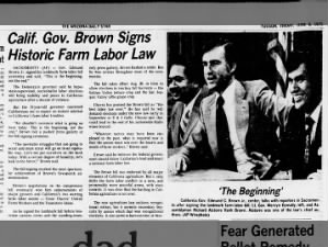 Signing of the California Agricultural Labor Relations Act, 1975