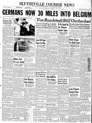 The Courier News from Blytheville, Arkansas on December 21, 1944 · Page 1