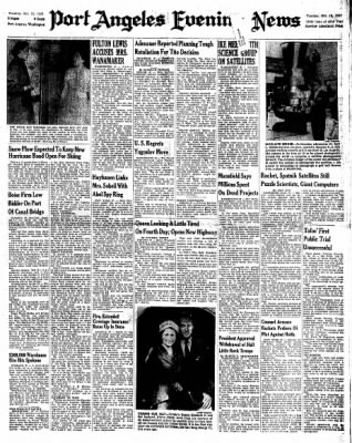 Port Angeles Evening News from Port Angeles, Washington on October 15, 1957 · Page 1