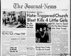 Headlines following the Birmingham Church Bombing on September 15, 1963