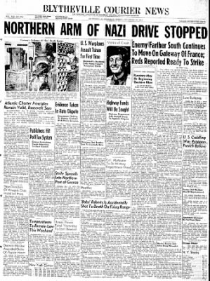 The Courier News from Blytheville, Arkansas on December 22, 1944 · Page 1