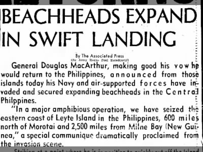 Clip of the Day: MacArthur Returns to the Philippines