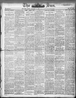The Sun from New York, New York on December 30, 1907 · Page 1