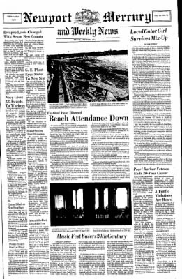 Newport Mercury From Newport Rhode Island On August 13 1971 Page 1 Newport dunes waterfront resort & marina remains open. newspapers com
