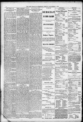 The New Orleans Daily Democrat from New Orleans, Louisiana on December 1, 1878 · Page 6