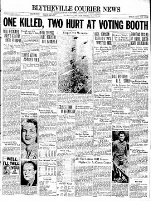 The Courier News from Blytheville, Arkansas on May 12, 1938 · Page 1