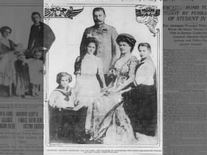 Photo of Franz Ferdinand, his wife Sophie, and their three children: Ernst, Sophie, and Maximilian