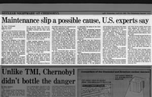 U.S. scientists speculate about cause of Chernobyl disaster before Soviets release the details