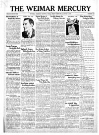 Sample The Weimar Mercury front page