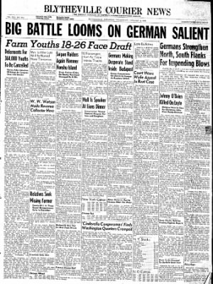 The Courier News from Blytheville, Arkansas on January 3, 1945 · Page 1