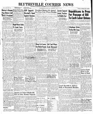 The Courier News from Blytheville, Arkansas on April 29, 1947 · Page 1
