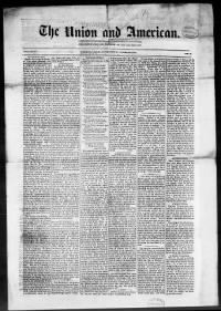 Sample Union and American front page
