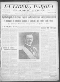 Sample La Libera Parola front page