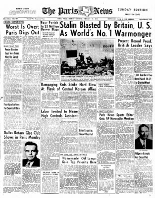 The Paris News From Texas On February 18 1951 Page 1