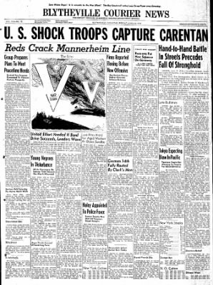 The Courier News from Blytheville, Arkansas on June 12, 1944 · Page 1