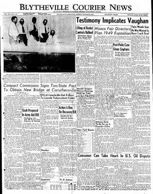 The Courier News from Blytheville, Arkansas on August 9, 1949 · Page 1