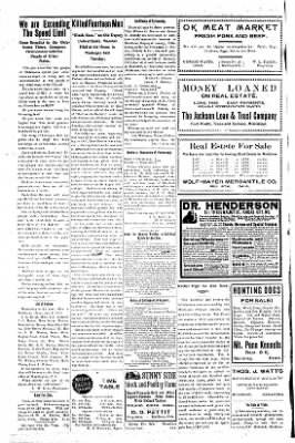 The Muldrow Press from Muldrow, Oklahoma on January 21, 1910 · Page 8