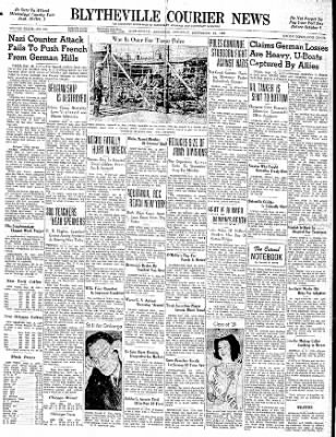 The Courier News from Blytheville, Arkansas on September 16, 1939 · Page 1