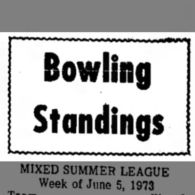 Bowling Standing - Bowling Standings