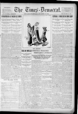 The Times-Democrat from New Orleans, Louisiana on December 27, 1909 · Page 1