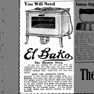 Electric Oven 1913