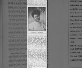 Description of Madam C.J. Walker's car and of her generosity, 1913
