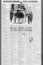 Chronology of events following the explosion of the Space Shuttle Challenger on January 28, 1986