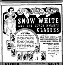 Snow White and the Seven Dwarfs glasses