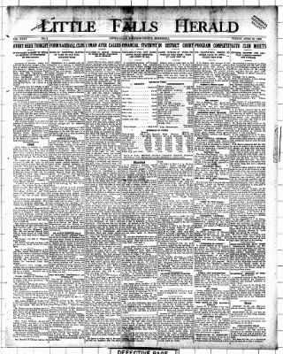 Little Falls Herald from Little Falls, Minnesota on April 23, 1920 · Page 1