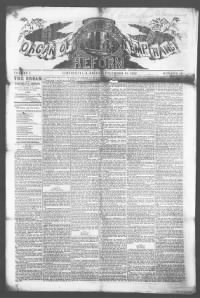 Sample The Organ of the Temperance Reform front page