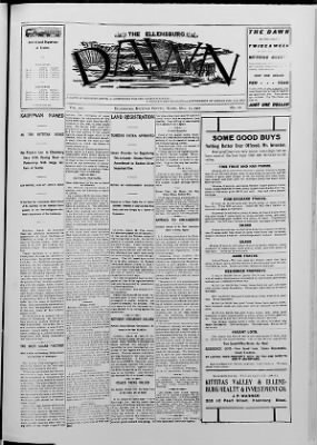 The Ellensburg Dawn from Ellensburg, Washington on March 15, 1907 · Page 1