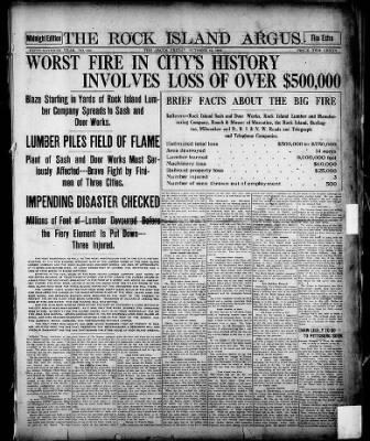 Special Midnight Fire Edition - October 16, 1908