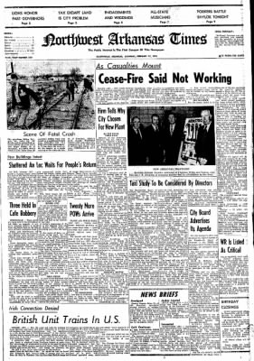 Northwest Arkansas Times from Fayetteville, Arkansas on February 17, 1973 · Page 1
