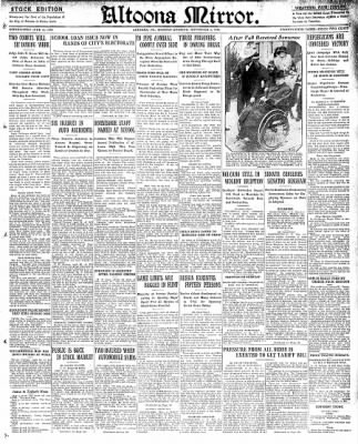 Altoona Mirror from Altoona, Pennsylvania on November 4, 1929 · Page 1