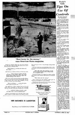 Tucson Daily Citizen from Tucson, Arizona on April 27, 1963 · Page 74