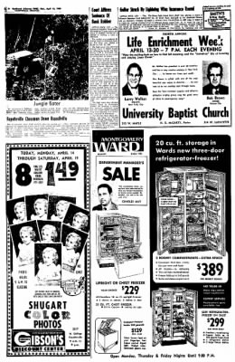 Northwest Arkansas Times from Fayetteville, Arkansas on April 14, 1969 · Page 8